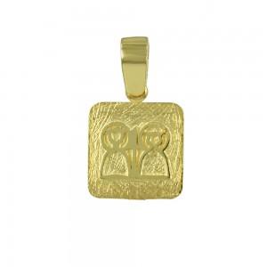 Christian pendant Yellow gold K14 Code 007173
