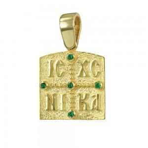 Christian pendant Yellow gold K14 Code 007174