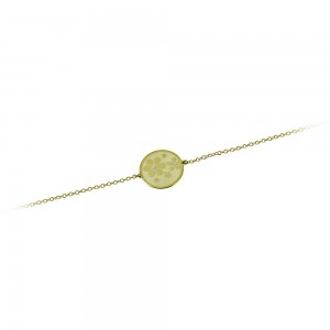 Bracelet Flowers Yellow gold K14 with diamond Code 007256