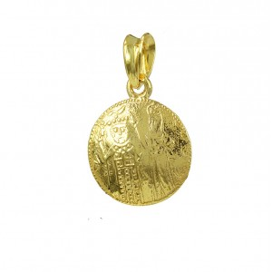 Christian pendant Yellow gold K14 Code 007323