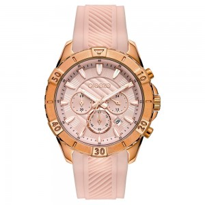 Breeze Sugarcoat 112231.8 Quartz Multifunction Stainless steel Pink rubber strap Pink color dial