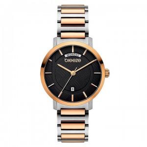 Breeze Superfect 712081.6 Quartz Bimetallic stainless steel Bracelet Black color dial