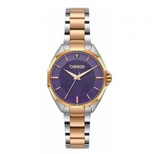 Breeze Hermosa 712151.5 Quartz Bimetallic stainless steel Bracelet Blue color dial