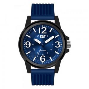 Caterpillar Groovy LF11126632 Quartz Pollycarbonate Blue rubber strap Blue color dial