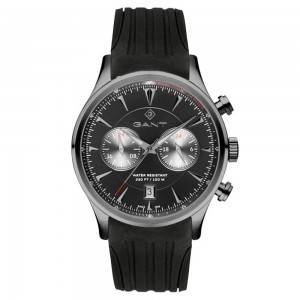 Gant Spencer G135017 Quartz Multifunction Stainless steel Black rubber strap Black color dial