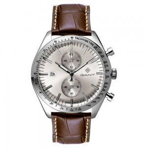 Gant Northampton G142001 Quartz Multifunction Stainless steel Brown leather strap Beige color dial