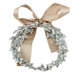 Decorative ivy wreath made of 925 sterling silver code 005506