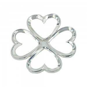 Four-leaf charm in shape of heart made of 925 sterling silver code 005507