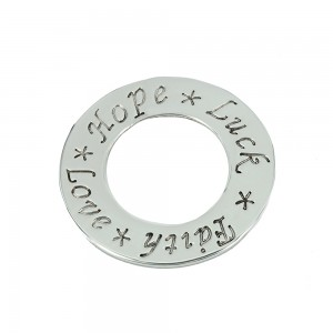 Wishes circle made of 925 sterling silver code 005509