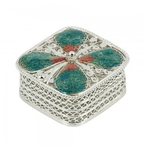 Handmade pound case made of 925 sterling silver 007459