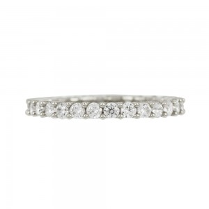 Ring White gold K14 with semiprecious crystals Code 008056