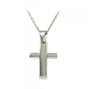 Cross with chain made of Steel Code 008015