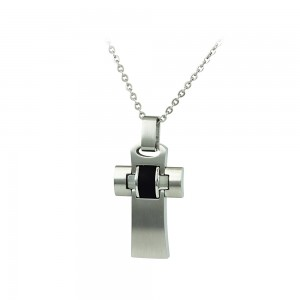 Cross with chain made of Steel and rubber Code 008016