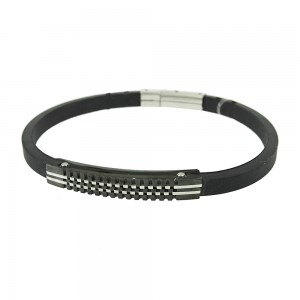 Handcuff made of Steel with balck ionization and rubber Code 008224