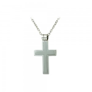 Cross with chain made of Steel Code 008245