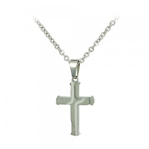 Cross with chain made of Steel Code 008247
