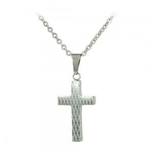 Cross with chain made of Steel Code 008248