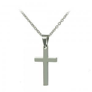 Cross with chain made of Steel Code 008249