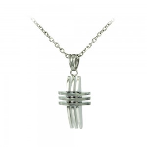 Cross with chain made of Steel Code 008251
