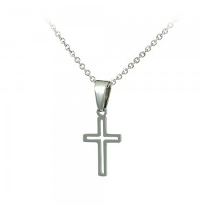 Cross with chain made of Steel Code 008254