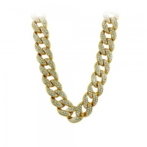 Necklace made of yellow gold plated Brass Code 008230