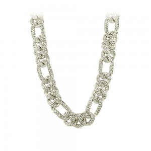 Necklace made of white gold plated Brass Code 008232