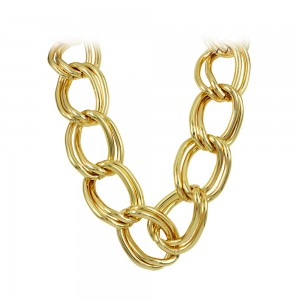 Necklace made of  yellow gold plated Aluminum Code 008233