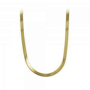 Necklace made of yellow gold plated Steel Code 008239