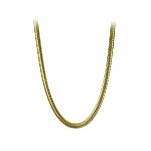 Necklace made of yellow gold plated Steel Code 008240