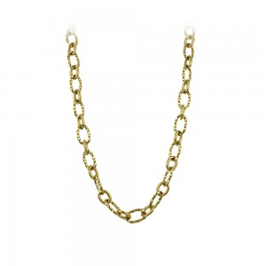Necklace made of yellow gold plated Steel Code 008241