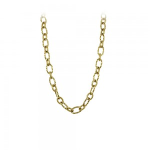 Necklace made of yellow gold plated Steel Code 008242