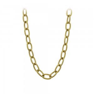 Necklace made of yellow gold plated Steel Code 008243