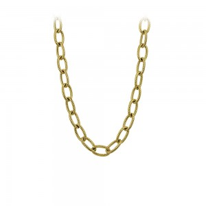 Necklace made of yellow gold plated Steel Code 008244