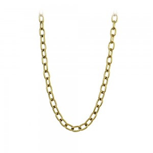 Necklace made of yellow gold plated Steel Code 008260