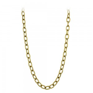 Necklace made of yellow gold plated Steel Code 008261
