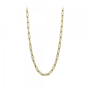 Necklace made of yellow gold plated Steel Code 008263