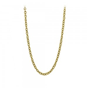 Necklace made of yellow gold plated Steel Code 008282