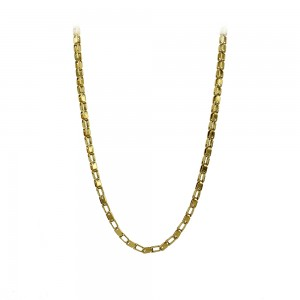 Necklace made of yellow gold plated Steel Code 008286