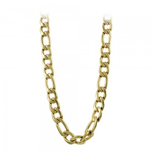 Necklace made of yellow gold plated Steel Code 008302