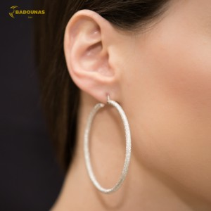 Earring rings White gold K14 Code 004922