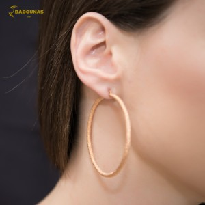 Earring rings Pink gold K14 Code 004922
