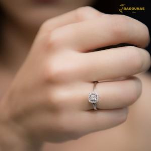 Diamond ring  White gold K18 Code 006665