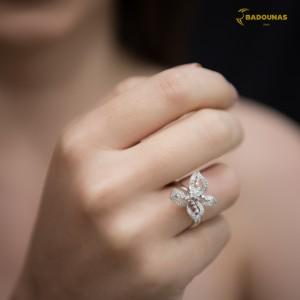 Diamond ring White gold K18 code 006721