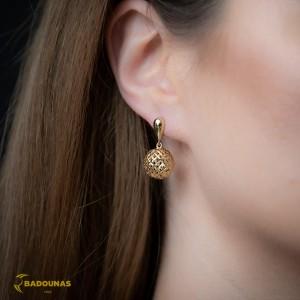 Earrings Yellow gold K14 Code 008095