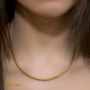 Necklace made of yellow gold plated Steel Code 008257