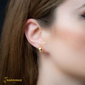 Earrings  Ball shape Yellow gold K14 Code 008387