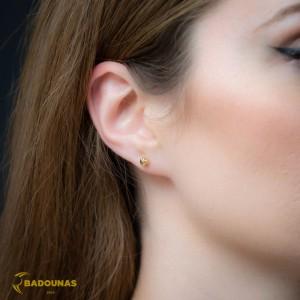 Earrings Ball shape Yellow gold K14 Code 008389
