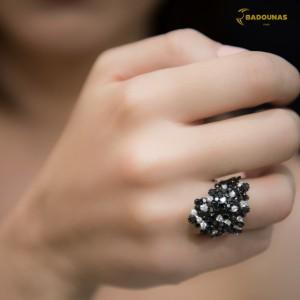 Diamond ring White gold K18 Code 003491