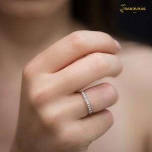 Diamond ring White gold K18 Code 004452