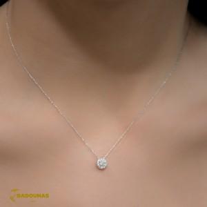Diamond necklace White gold K18 Brilliant cut Code 004460